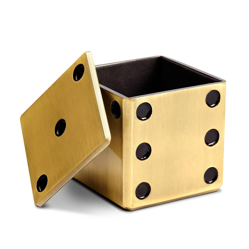 Dice Decorative Box - Gold - L'Objet