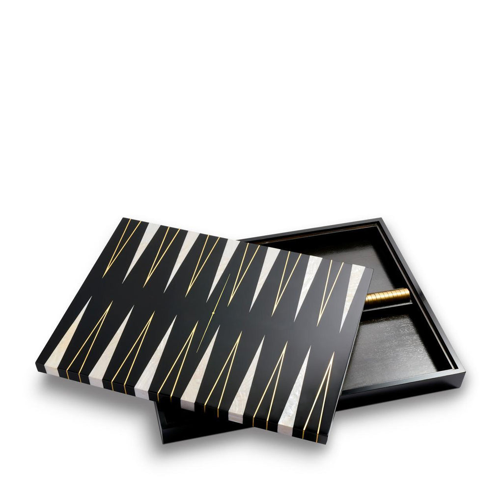 Backgammon set - Black & Gold - TERTIUS COLLECTION