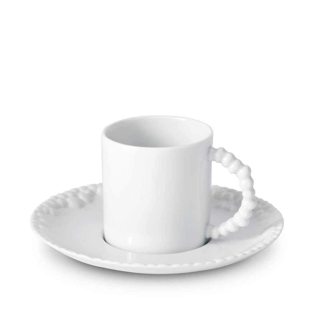 Haas Mojave Espresso Cup + Saucer - White - TERTIUS COLLECTION