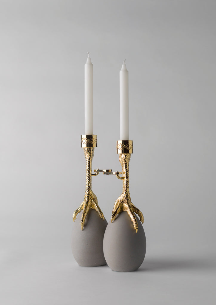 Dali inspired Barcelona Design Functional Furniture - Walking Hen Candleholder