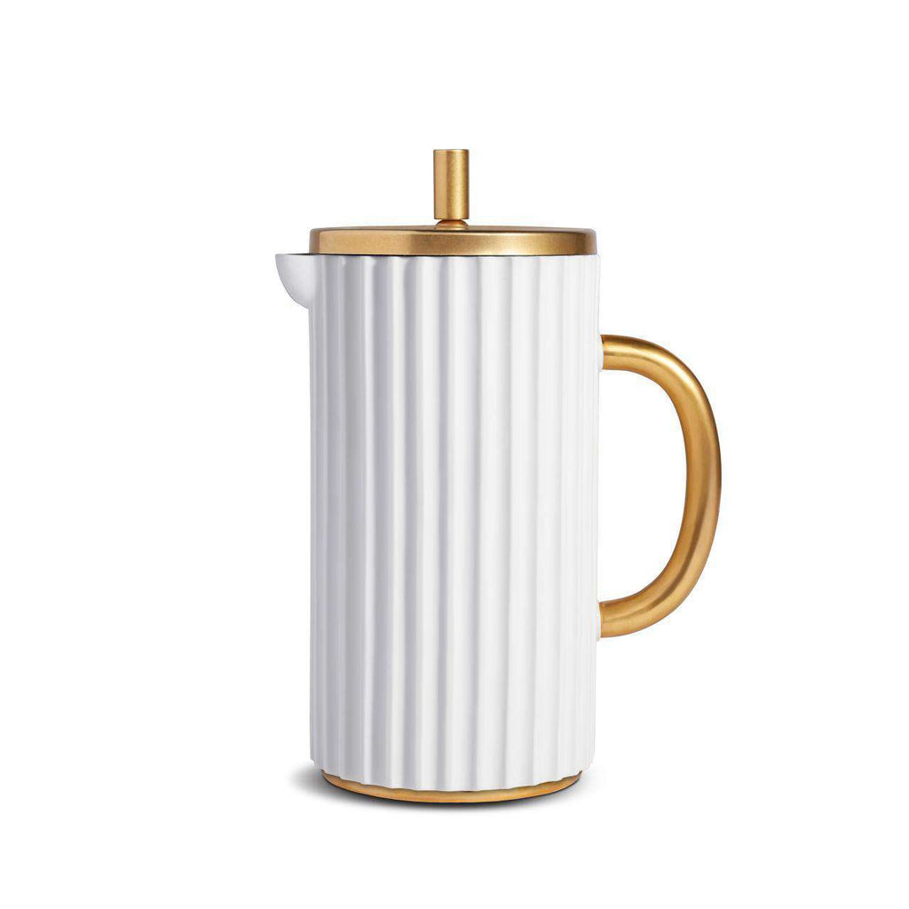 Ionic French Press - White - TERTIUS COLLECTION