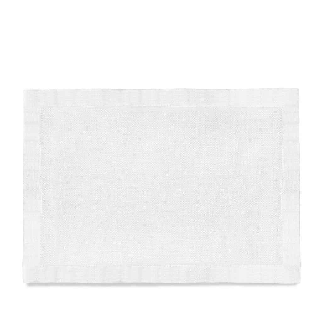 Linen Sateen Placemats (Set of 4) - White - TERTIUS COLLECTION