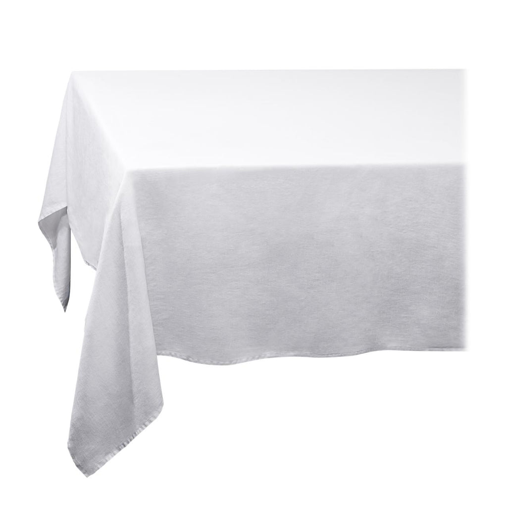 Linen Sateen Tablecloth - Large - White - TERTIUS COLLECTION