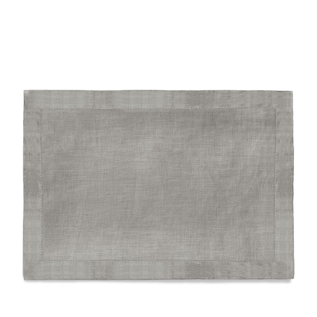 Linen Sateen Placemats (Set of 4) - Grey - TERTIUS COLLECTION