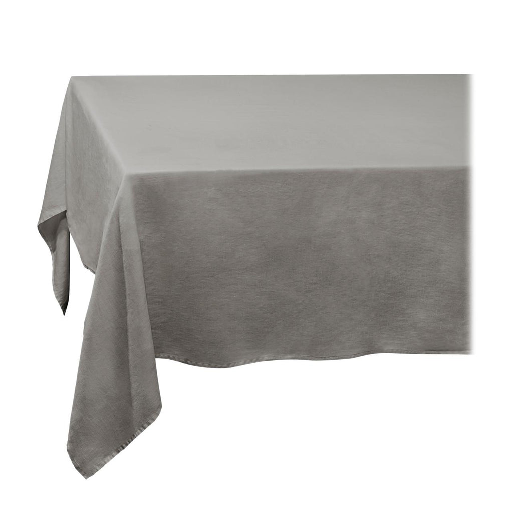 Linen Sateen Tablecloth - Large - Grey - TERTIUS COLLECTION