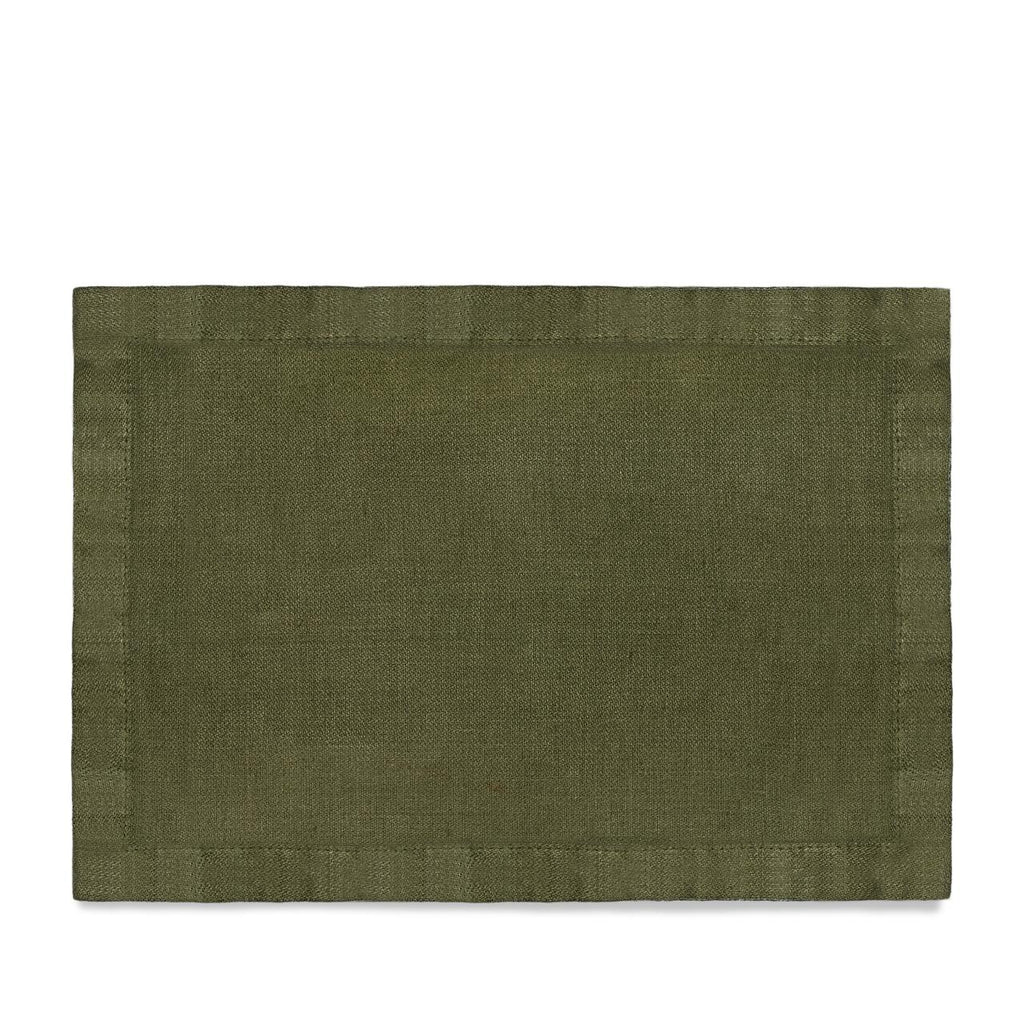 Linen Sateen Placemats (Set of 4) - Olive - TERTIUS COLLECTION