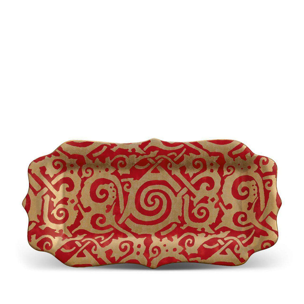Fortuny Maori Rectangular Platter - Medium - Red