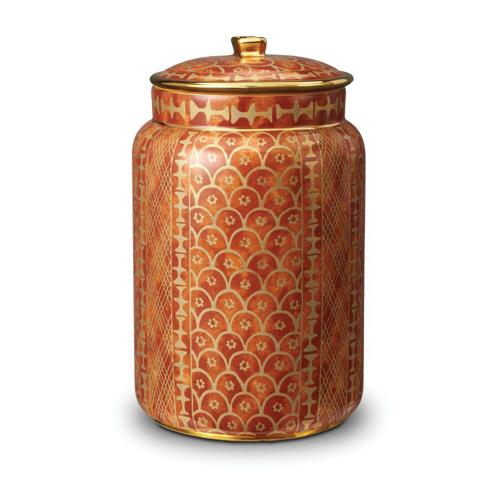 Fortuny Ashanti Canister - Large - Orange - TERTIUS COLLECTION