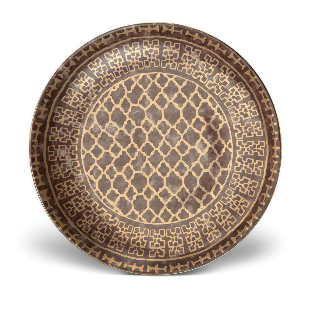 Fortuny Ashanti Round Platter - Large - Grey - TERTIUS COLLECTION
