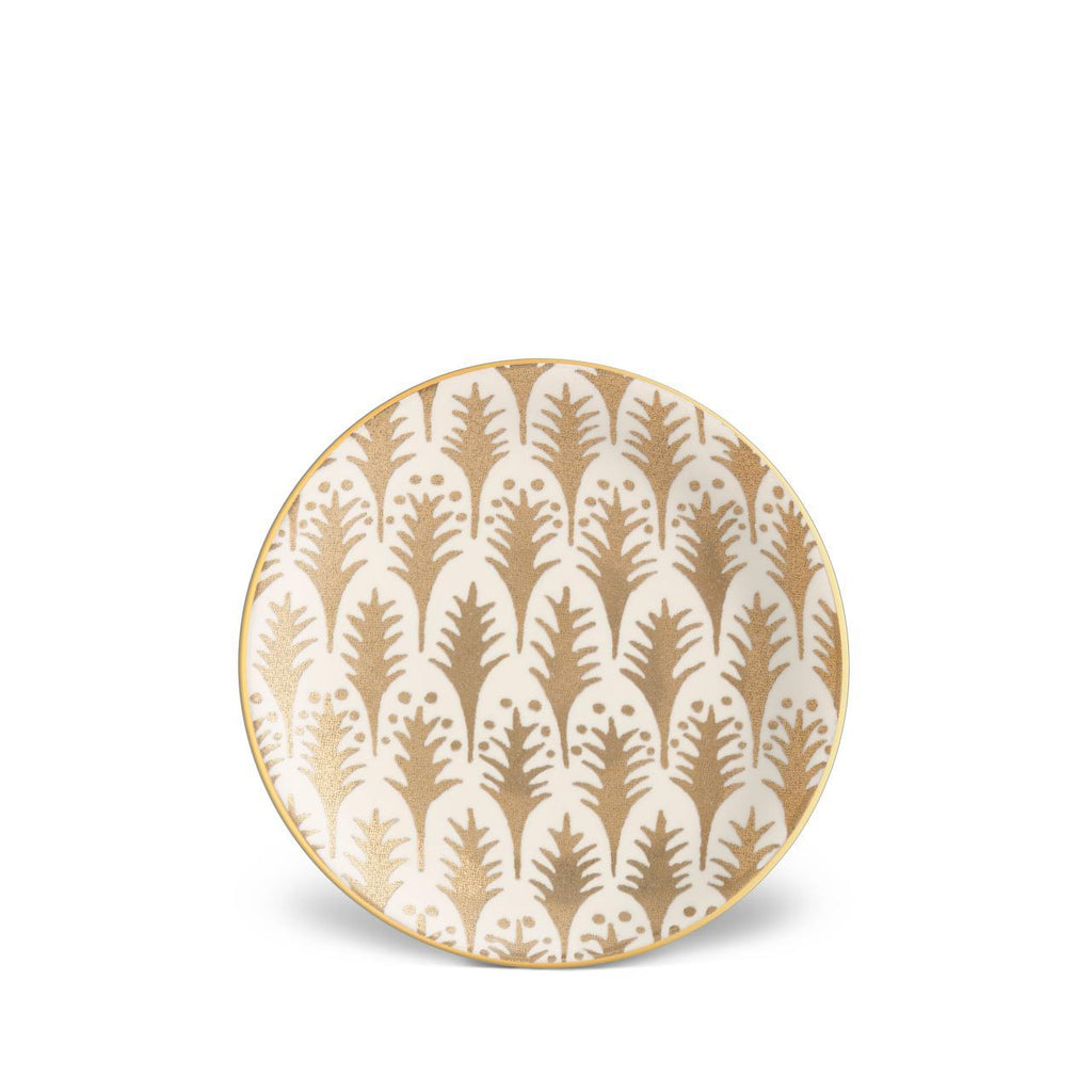 Fortuny Piumette Canape Plates - White & Gold - TERTIUS COLLECTION