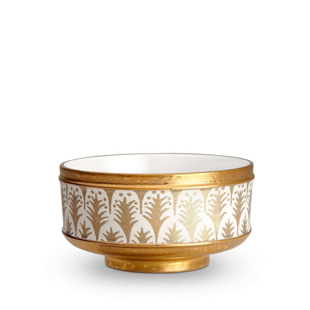 Fortuny Piumette Cereal Bowls - White & Gold - L'Objet