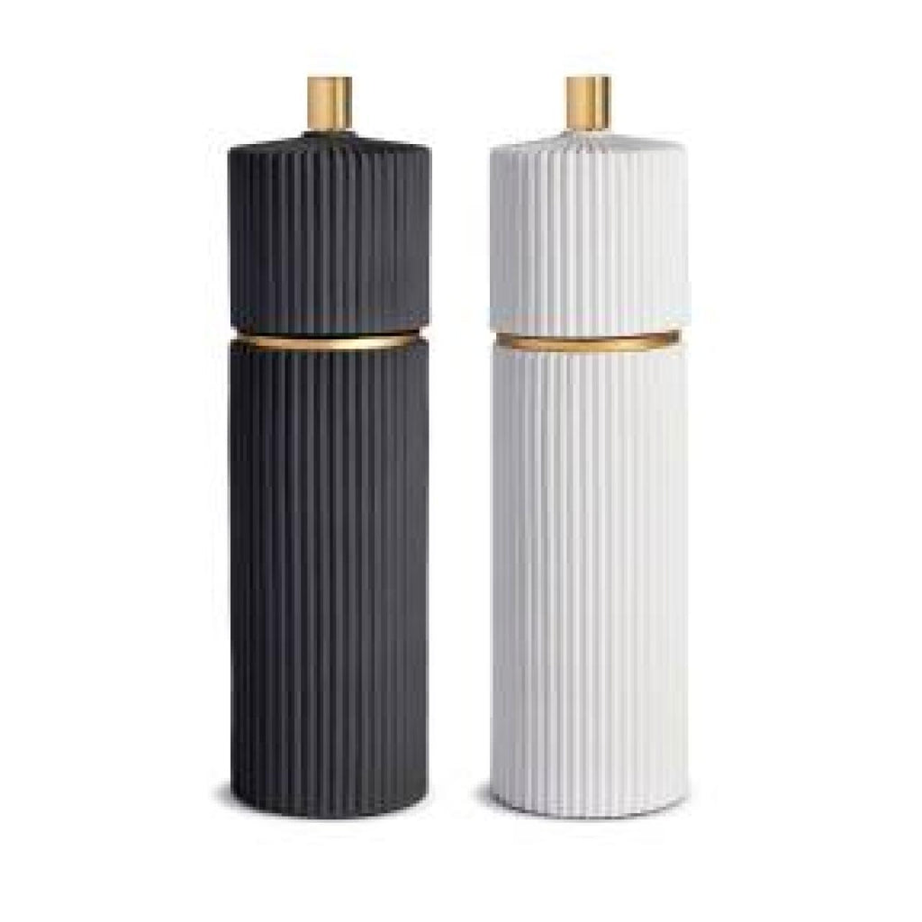 Ionic Salt & Pepper Mills - Large - Black & White - TERTIUS COLLECTION