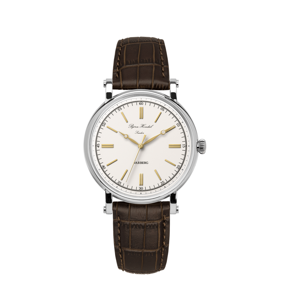 Björn Hendal Varberg Flytande Stainless Steel Case White Dial - TERTIUS COLLECTION