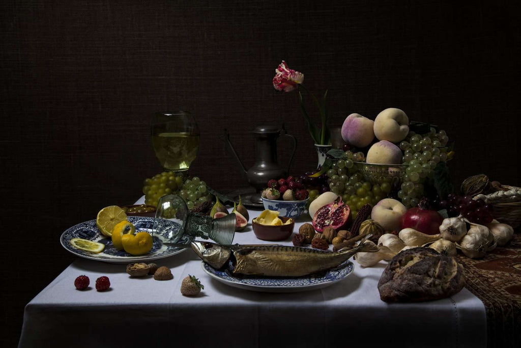 Jeroen Luijt - Still-Life with Fruit & Fish
