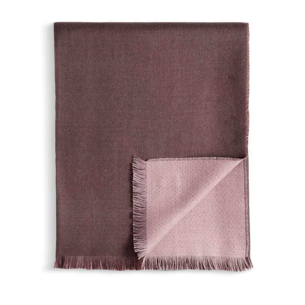 Double Face Throw - Mauve & Taupe - L'Objet