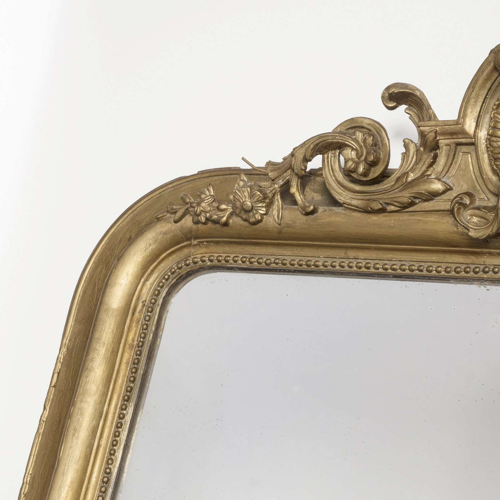 Mirror with Shell Crest - TERTIUS ANTIQUES