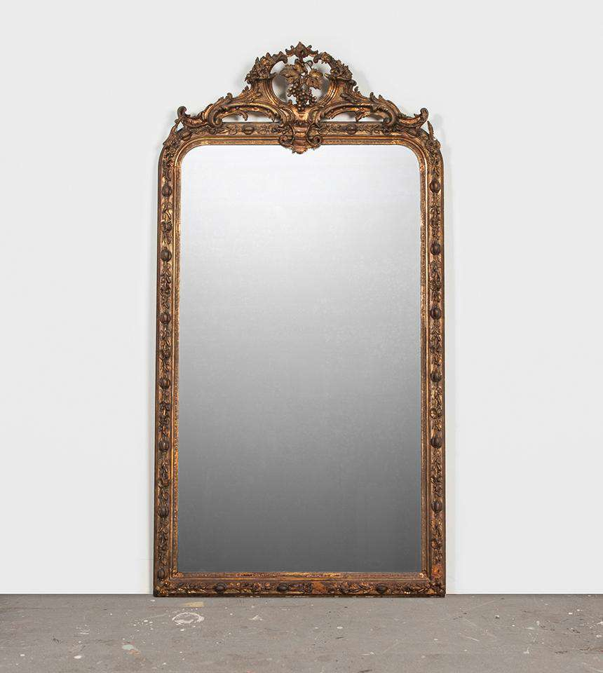 Large Distressed Mirror - TERTIUS ANTIQUES