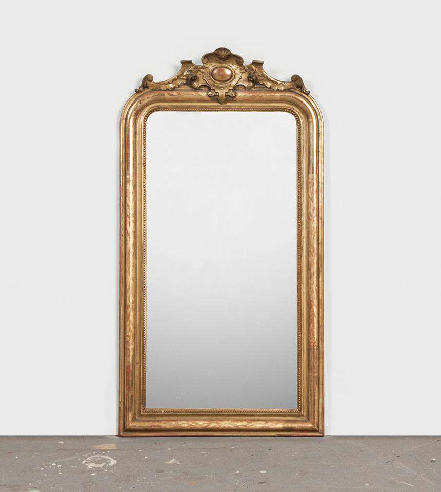 Mirror with Cartouche - TERTIUS ANTIQUES