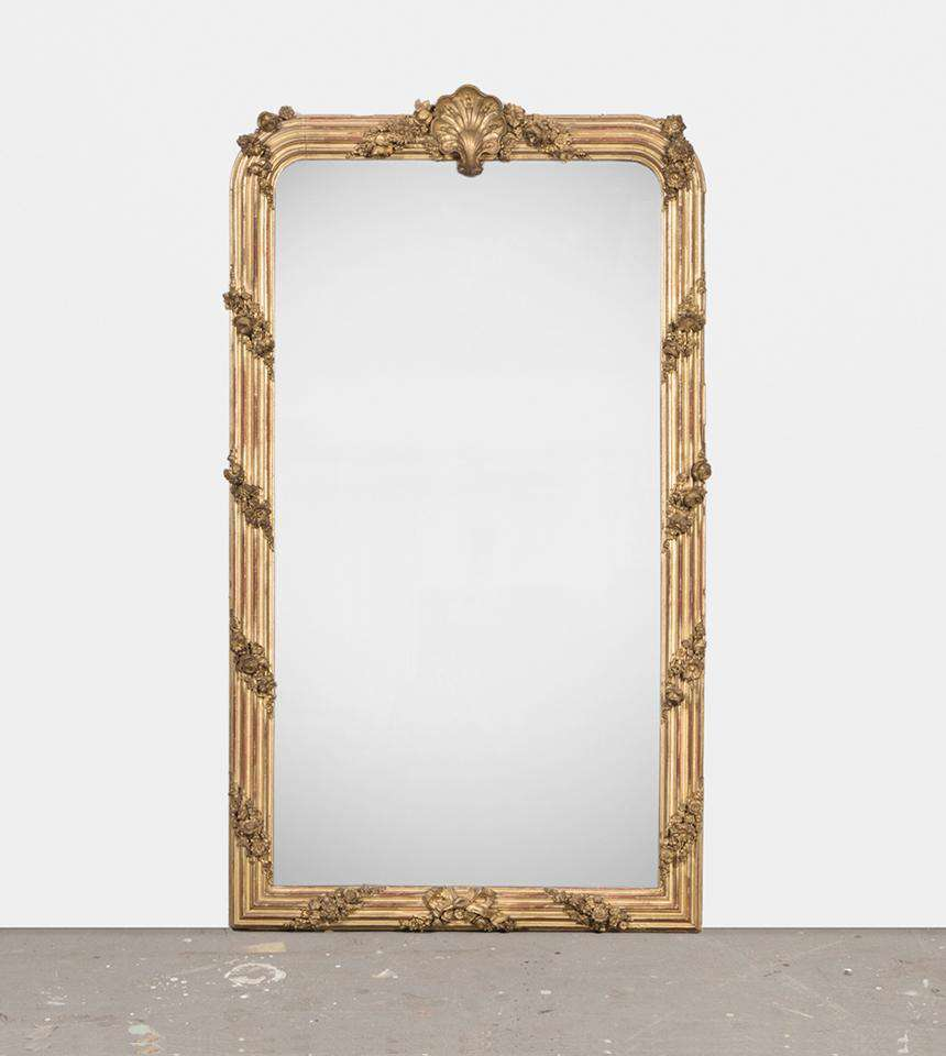 Mirror with Shell and Flowers - TERTIUS ANTIQUES