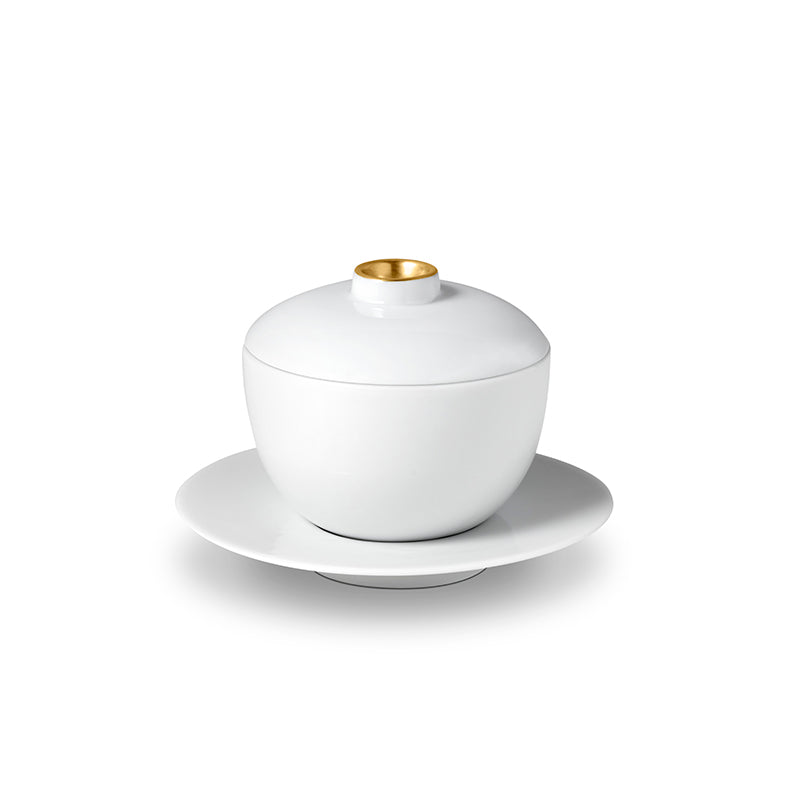 Zen Tea Cup with Lid + Saucer - TERTIUS COLLECTION