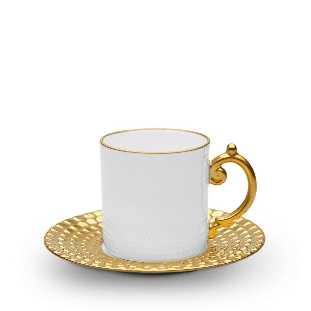 Aegean Espresso Cup & Saucer - Gold - TERTIUS COLLECTION