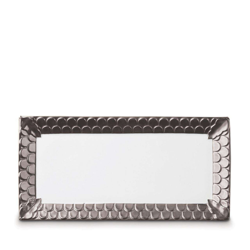 Aegean Rectangular Platter - Medium - Platinum - TERTIUS COLLECTION