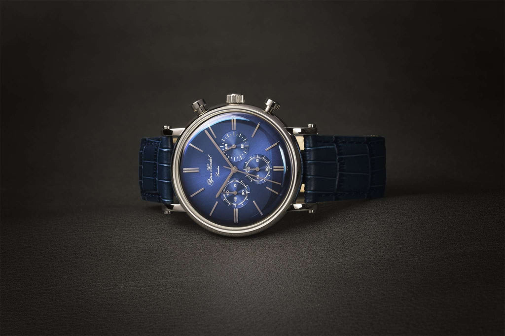 "Björn Hendal Chronograph Steel ""Varberg"" Indigo Blue Dial - TERTIUS COLLECTION"