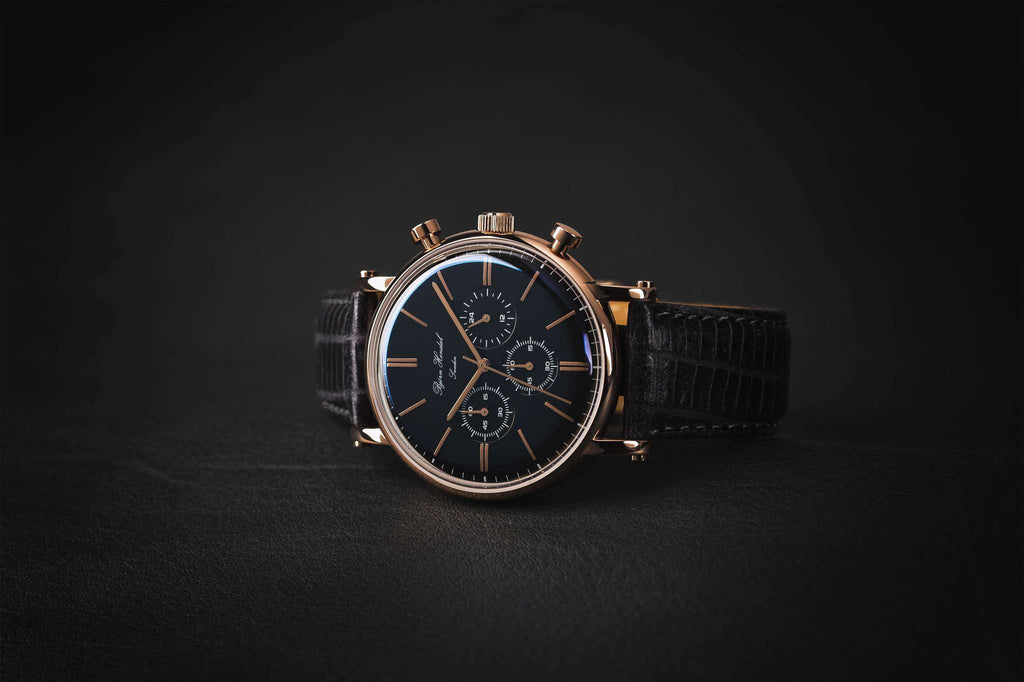 "Björn Hendal Chronograph ""Varberg"" Black Lizard - TERTIUS COLLECTION"