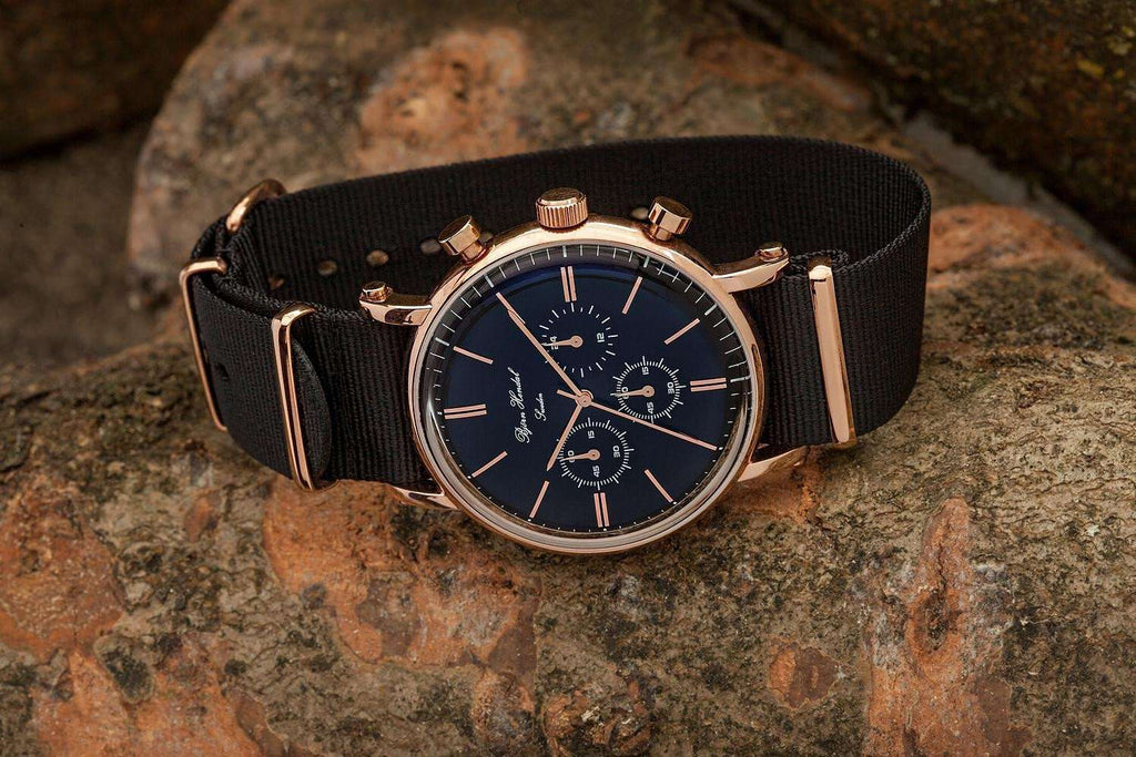 "Björn Hendal Chronograph ""Varberg"" NATO Black - TERTIUS COLLECTION"