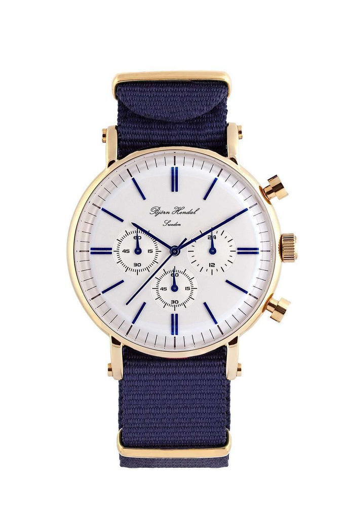 "Björn Hendal Chronograph ""Varberg"" NATO Navy - TERTIUS COLLECTION"