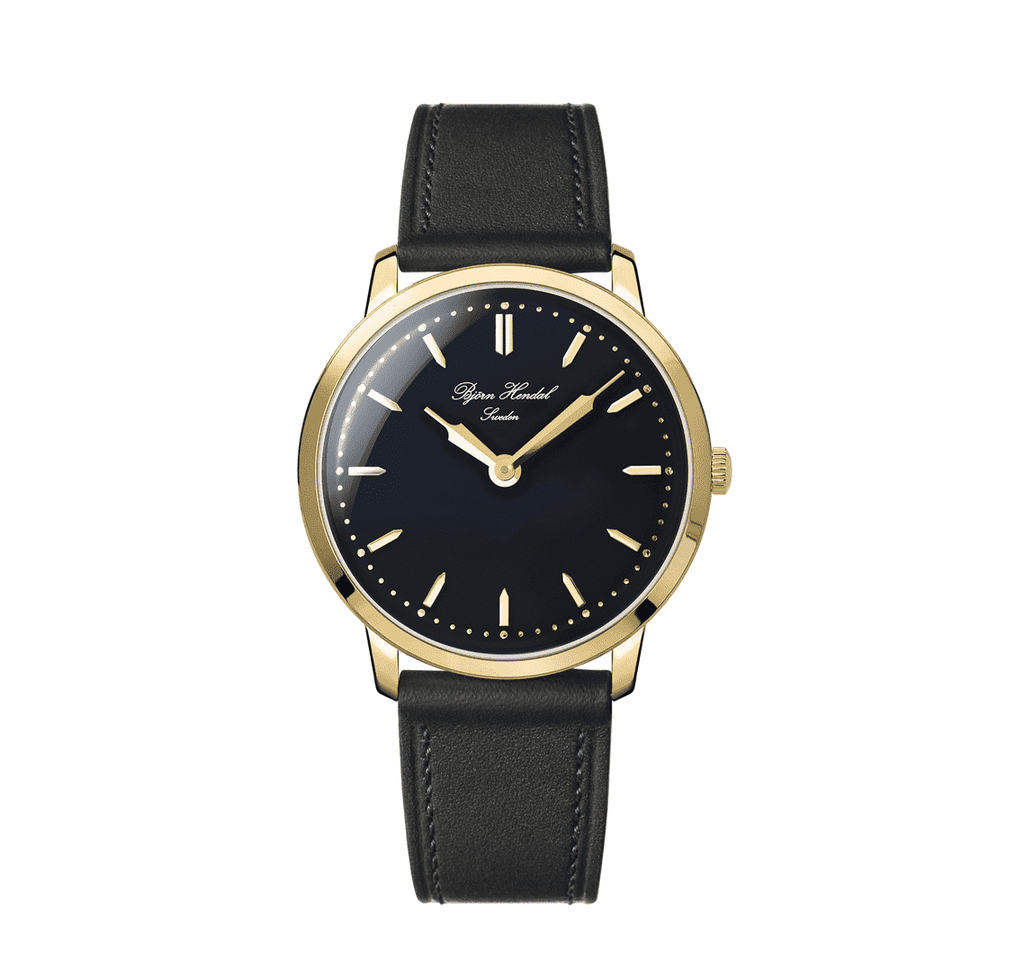 Björn Hendal Scepter - Black Dial - Gold Plated case - TERTIUS COLLECTION