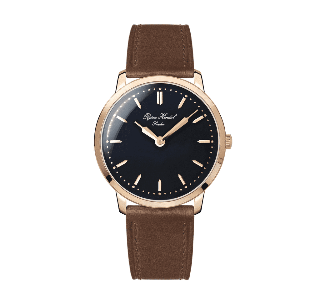 Björn Hendal Scepter - Black Dial - Rosegold Plated case - TERTIUS COLLECTION