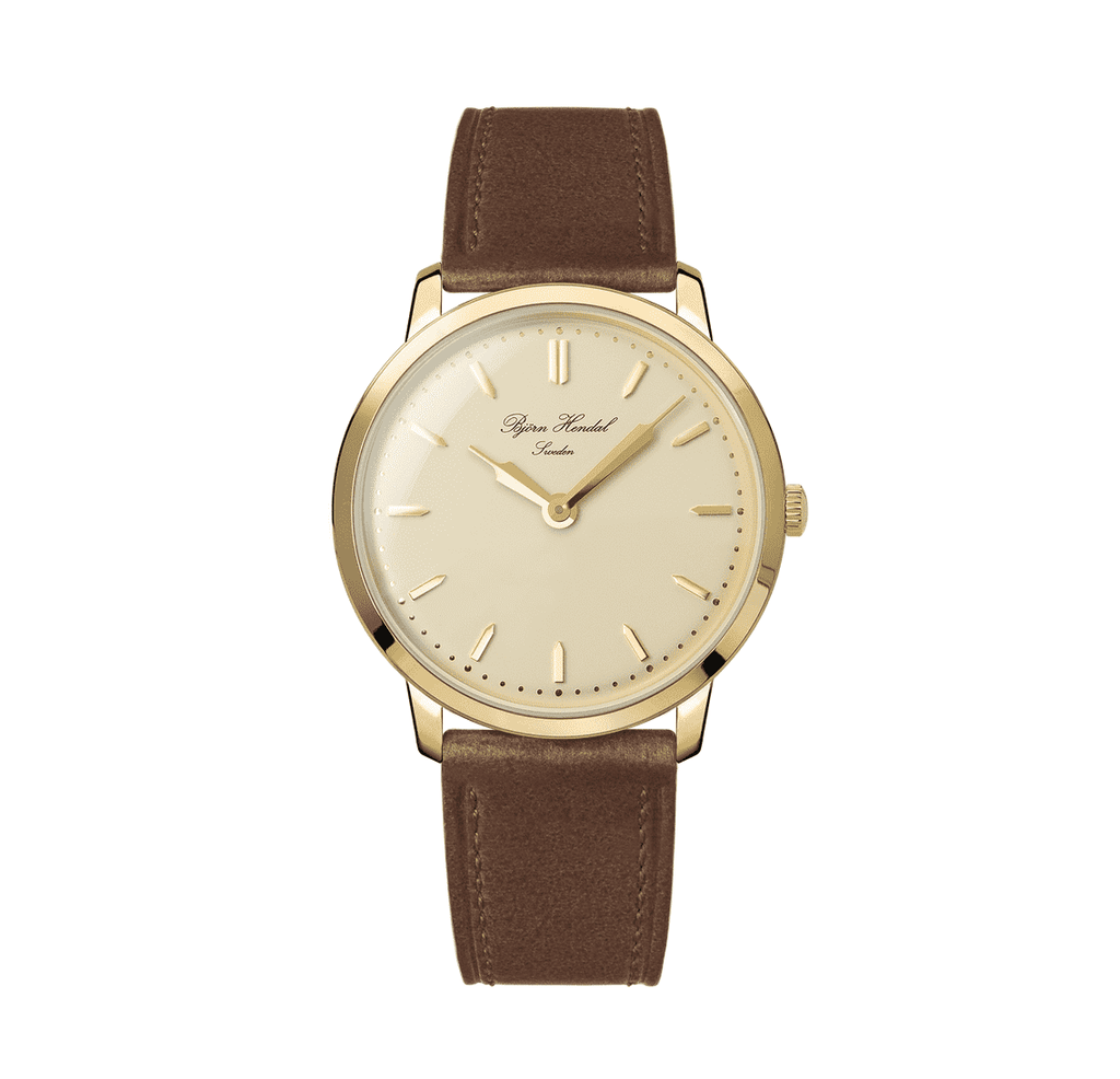 Björn Hendal Scepter - Pink Dial - Gold Plated case - TERTIUS COLLECTION