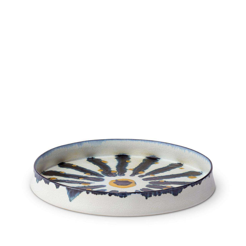 Bohême Round Platter - Medium - Blue & White - TERTIUS COLLECTION