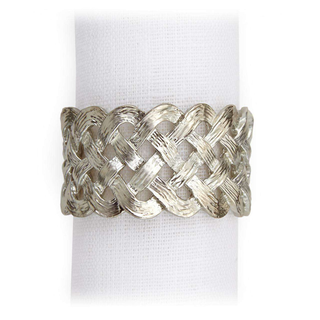 Braid Napkin Jewels - Platinum - TERTIUS COLLECTION