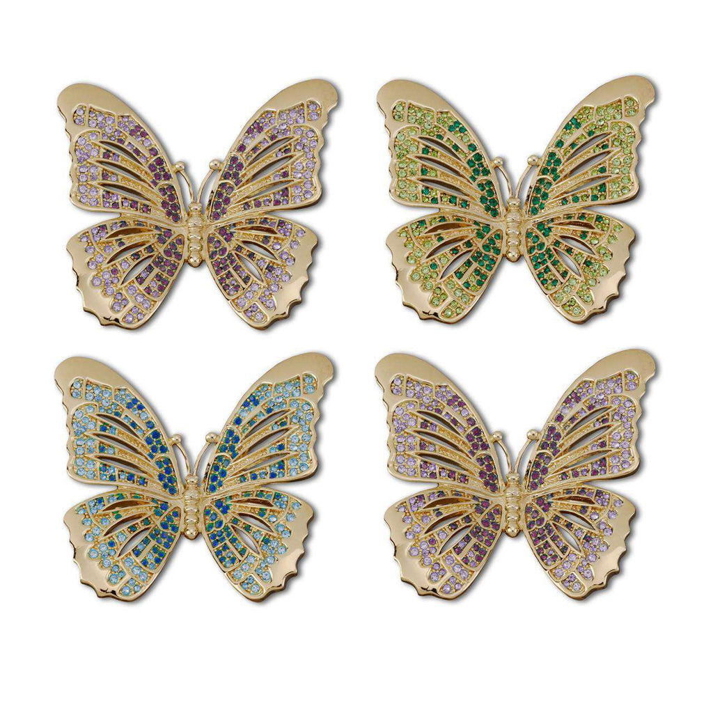 Butterfly Napkin Jewels (Set of 4) - Gold - TERTIUS COLLECTION