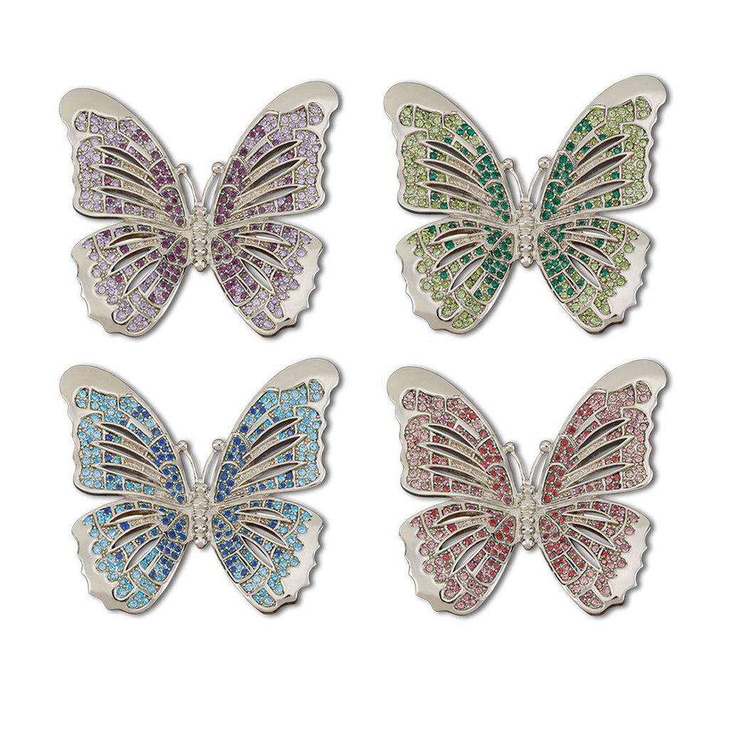 Butterfly Napkin Jewels (Set of 4) - Platinum - TERTIUS COLLECTION