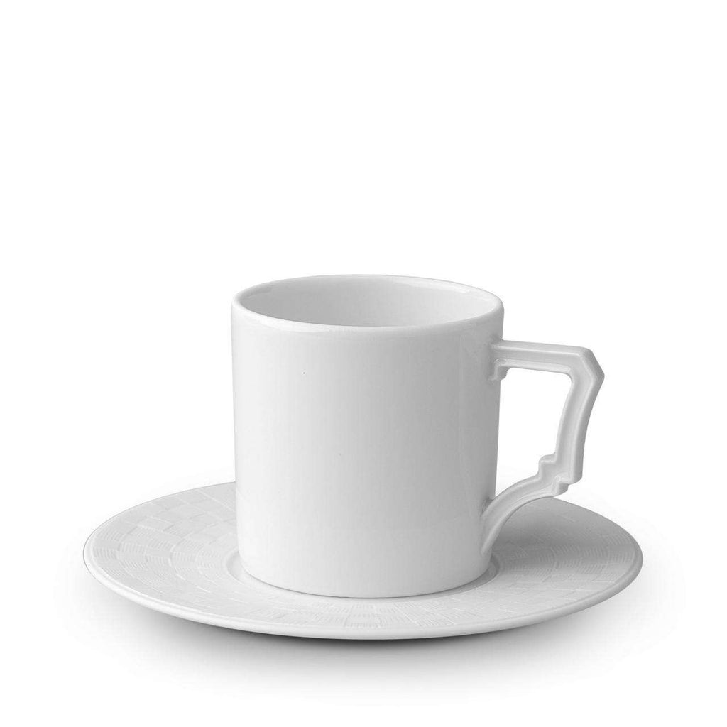 Byzanteum Espresso Cup & Saucer - Blanc - TERTIUS COLLECTION