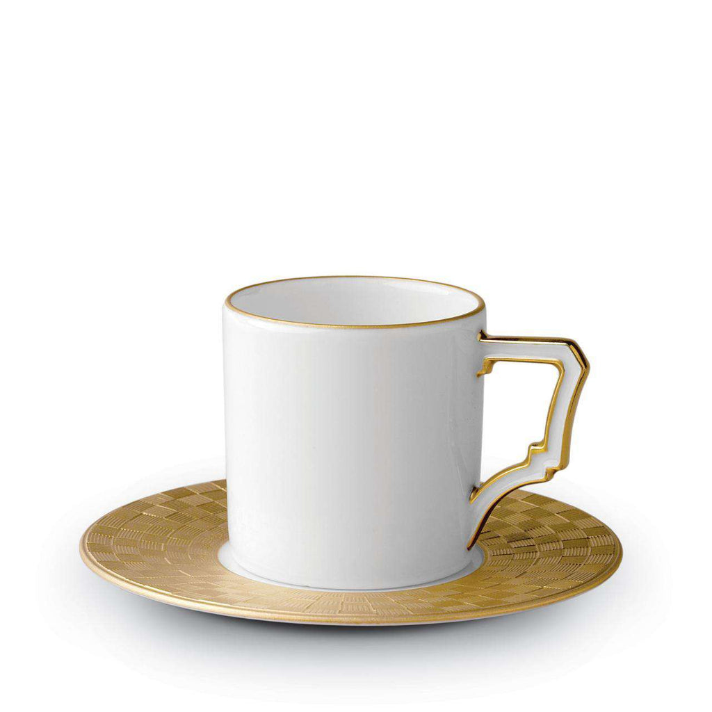 Byzanteum Espresso Cup & Saucer - Or - TERTIUS COLLECTION