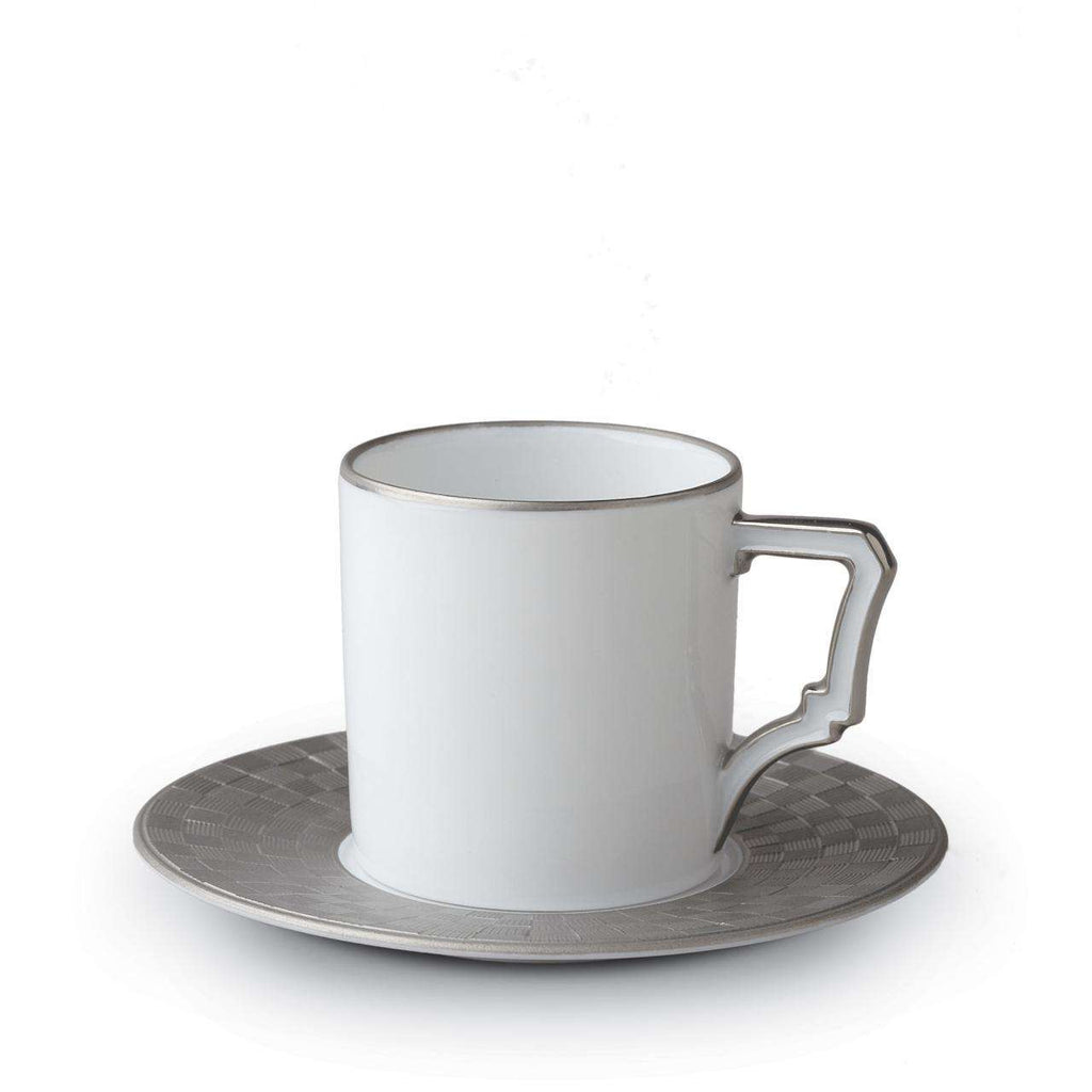 Byzanteum Espresso Cup & Saucer - Platine - TERTIUS COLLECTION