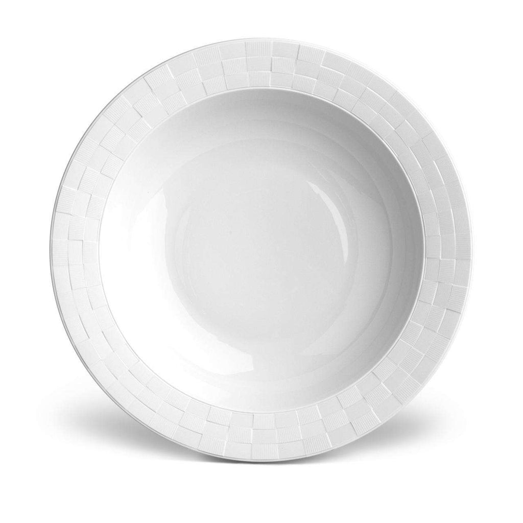 Byzanteum Rimmed Serving Bowl - Large - Blanc - TERTIUS COLLECTION