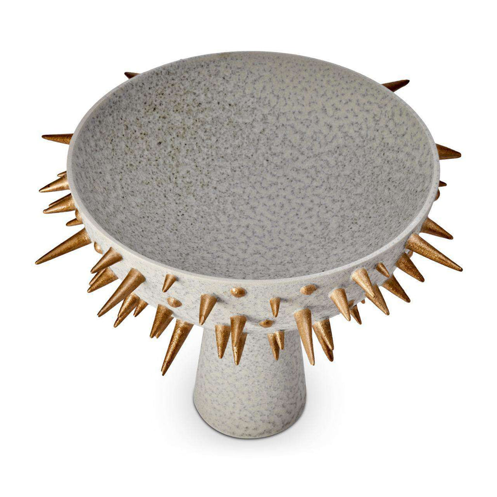 Celestial Bowl on Stand - Large - Grey & Gold - TERTIUS COLLECTION