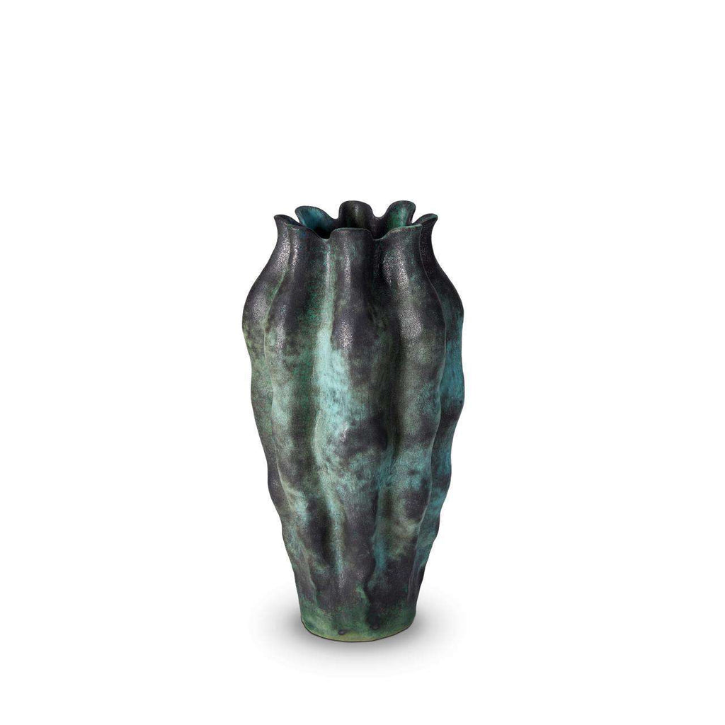 Cenote Vase - Large - Green - TERTIUS COLLECTION