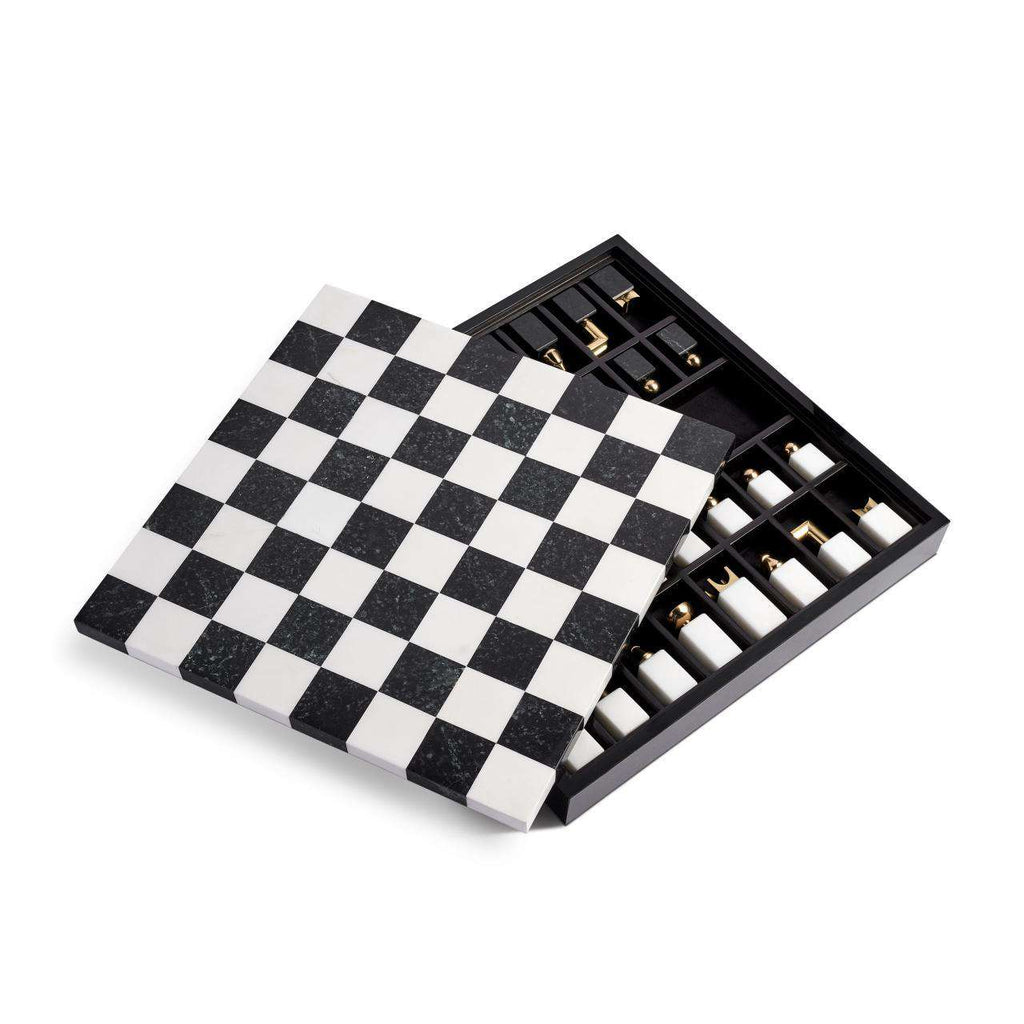 Chess Set - Black & Gold - TERTIUS COLLECTION