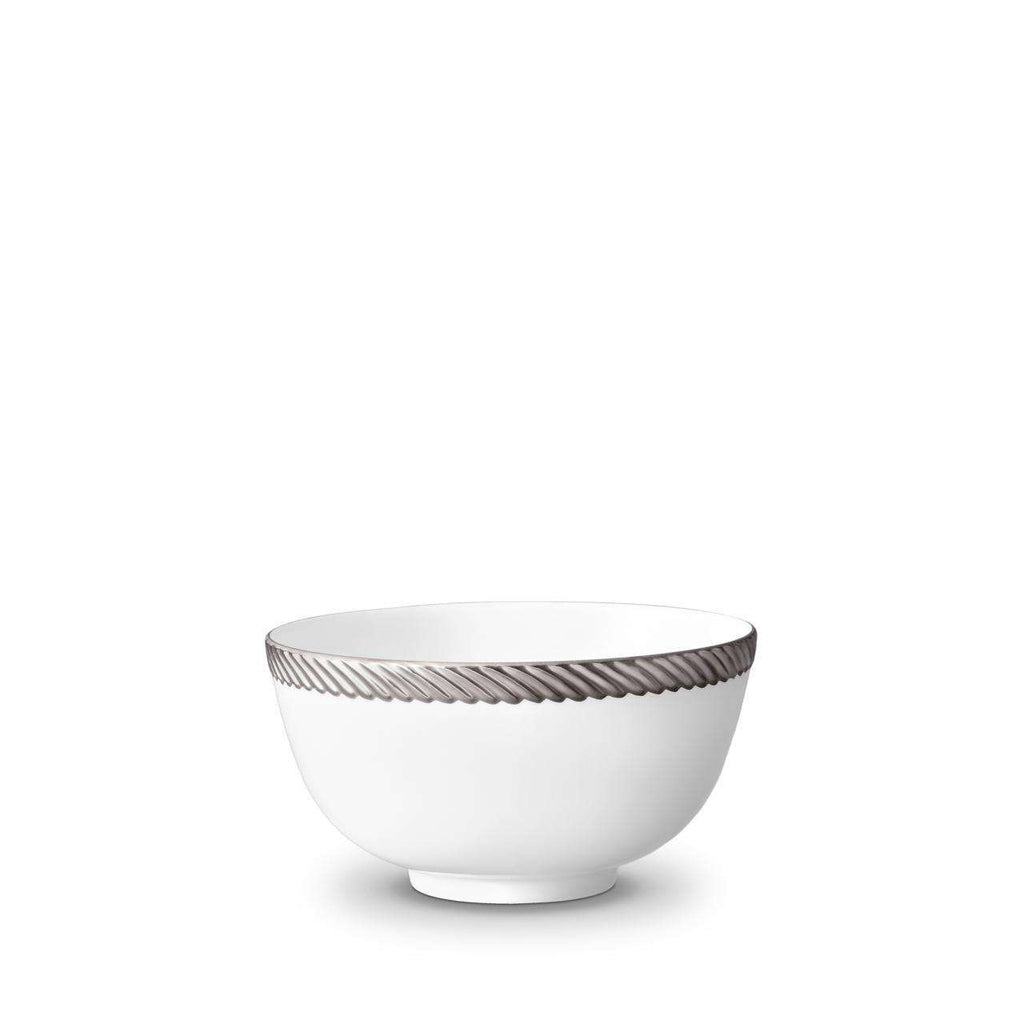 Corde Cereal Bowl - Medium - Platinum - TERTIUS COLLECTION
