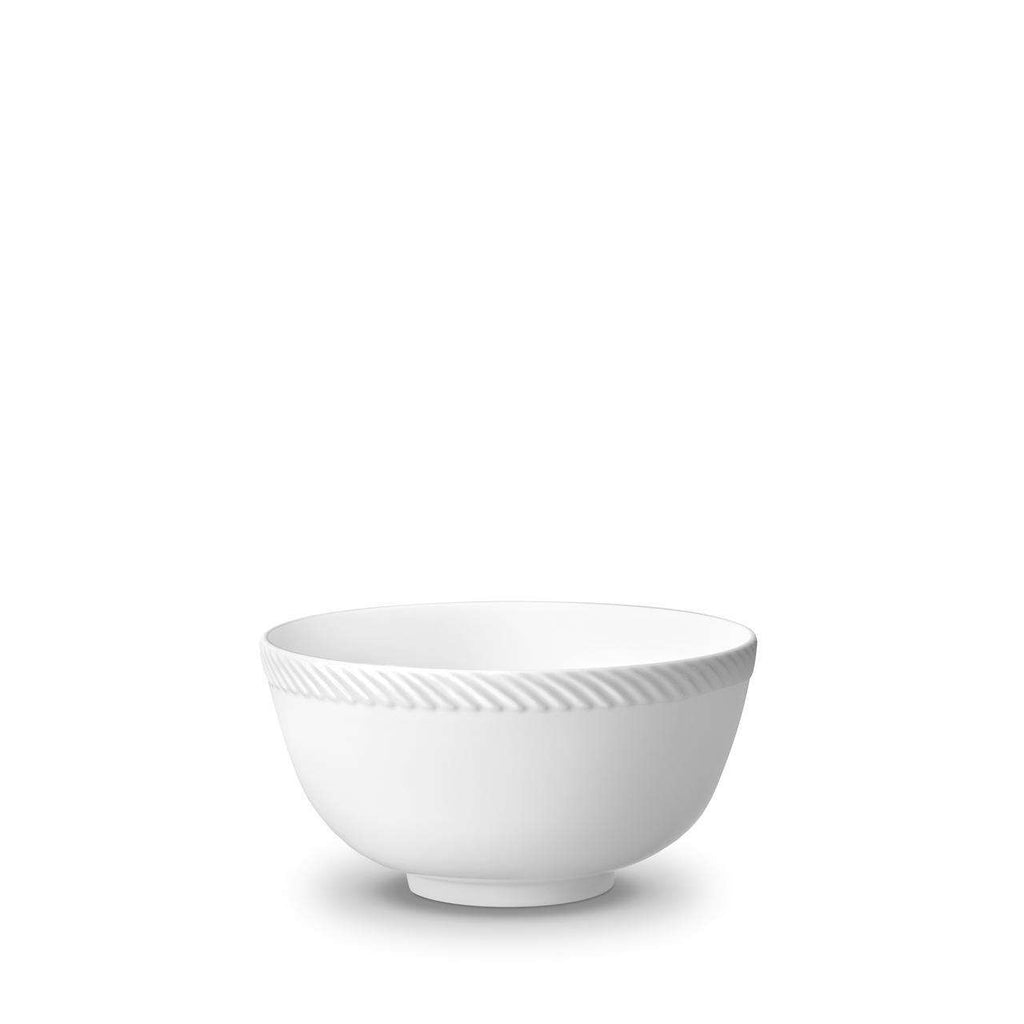 Corde Cereal Bowl - Medium - White - TERTIUS COLLECTION
