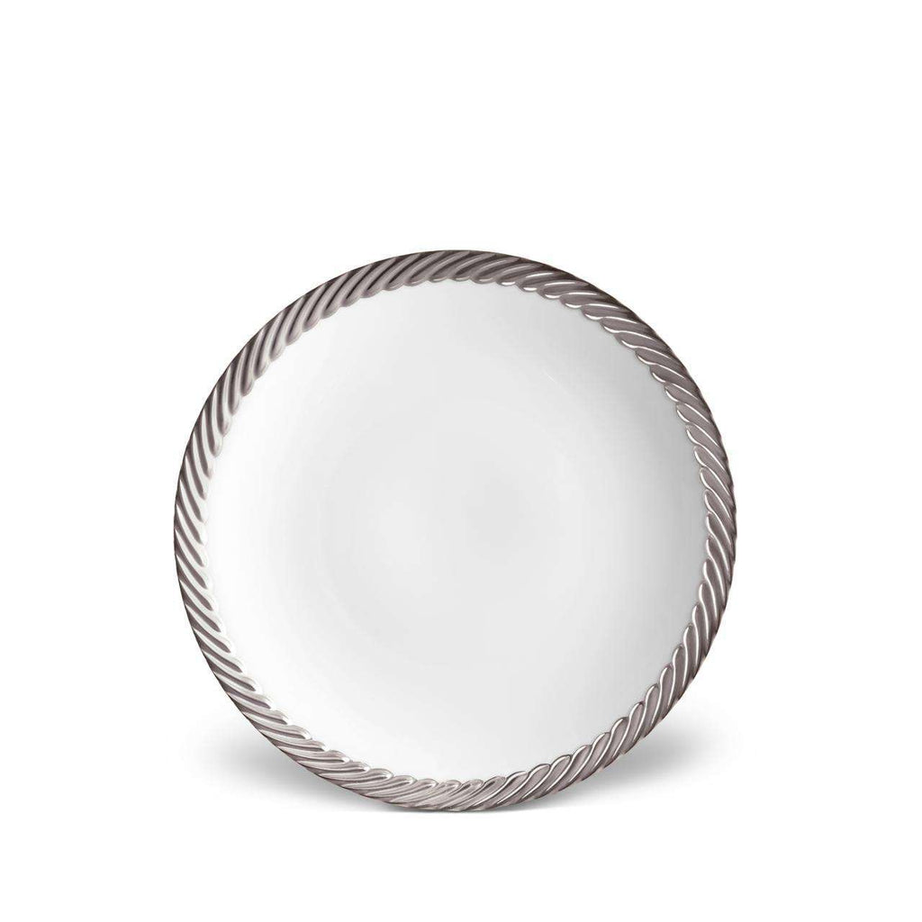Corde Dessert Plate - Platinum - TERTIUS COLLECTION