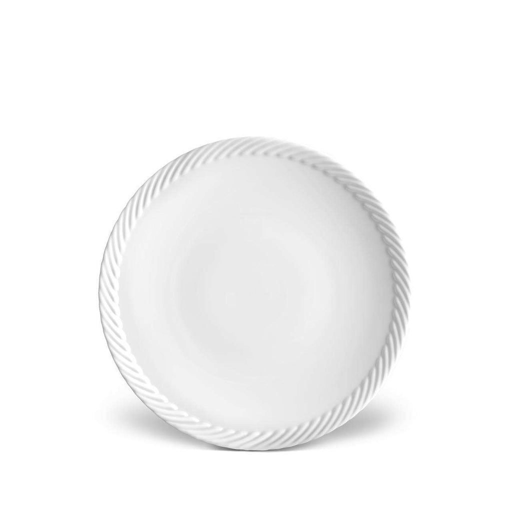Corde Dessert Plate - White - TERTIUS COLLECTION