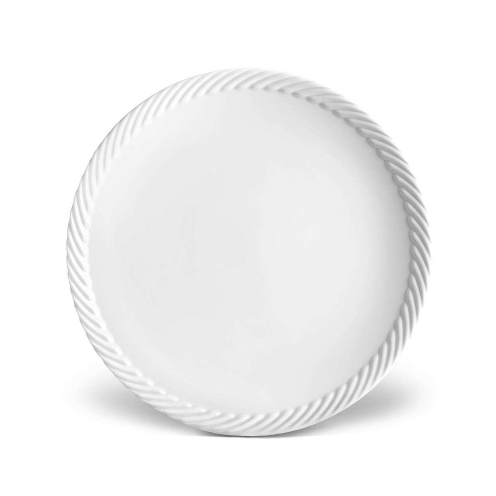 Corde Dinner Plate - White - TERTIUS COLLECTION
