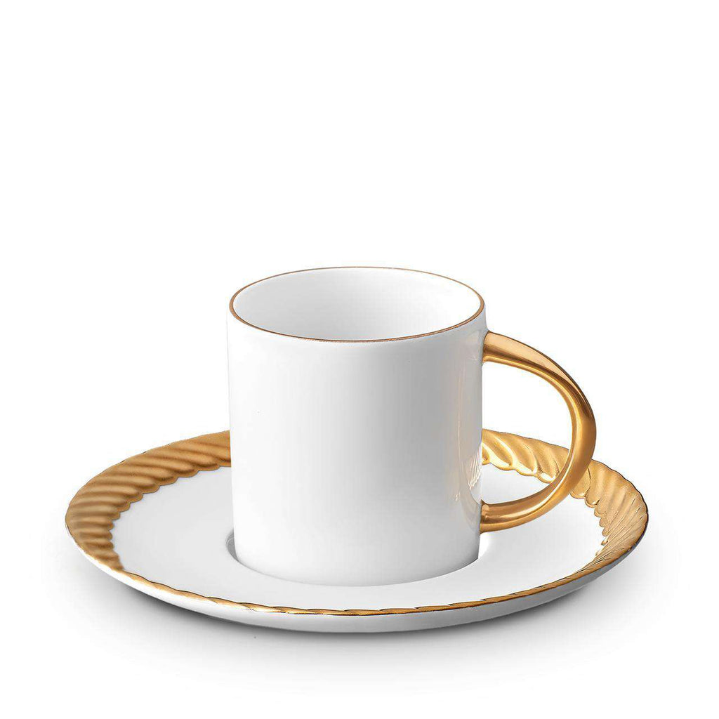Corde Espresso Cup & Saucer - Gold - TERTIUS COLLECTION